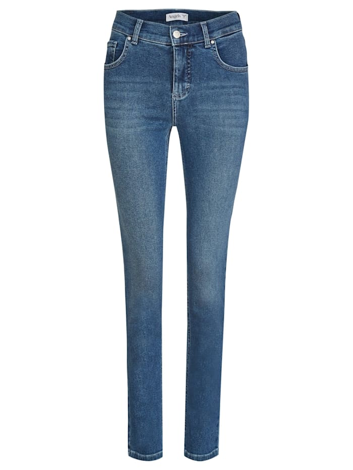 Angels Jeans ,Skinny' in schmalem Schnitt, old washed used buffi