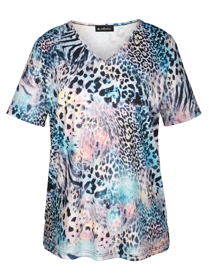 Shirt met geraffineerde animalprint