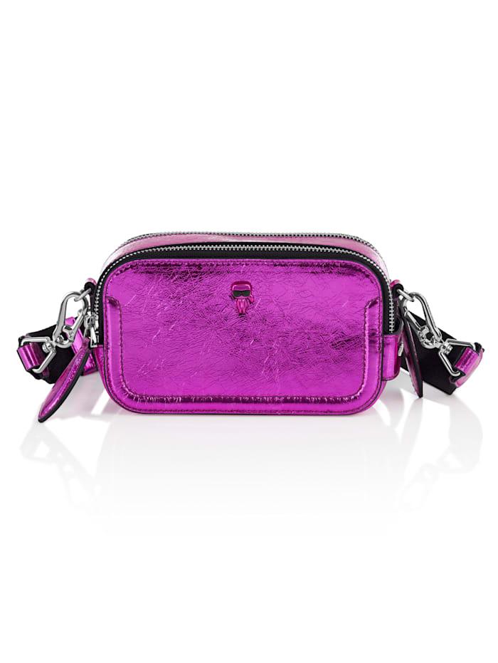 Karl Lagerfeld Kamera-Bag, pink metallic