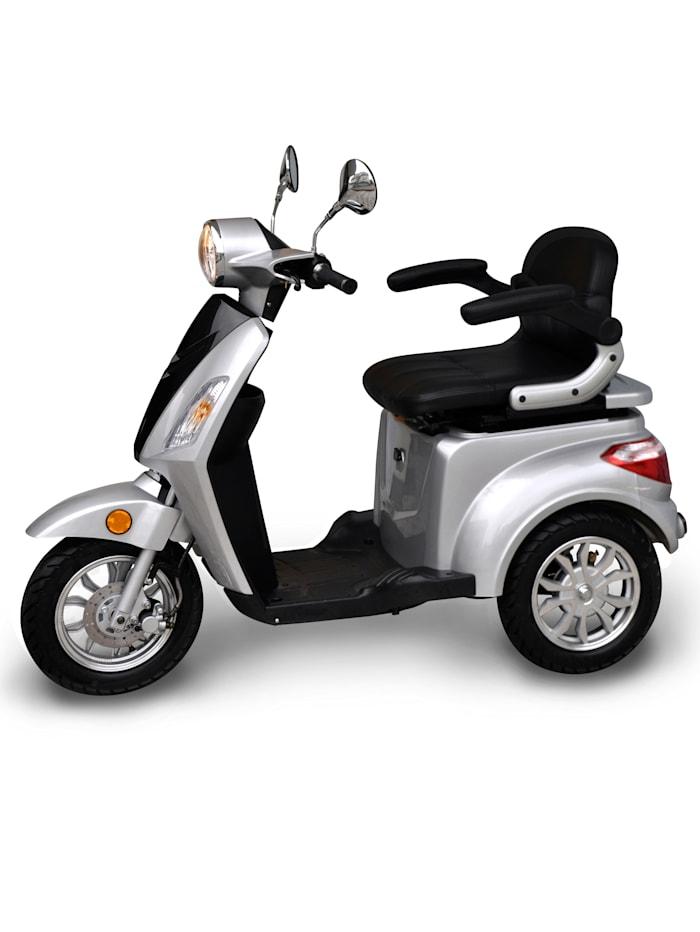 """Aktivimo Dreirad-Elektroroller """"E-Trike"""" silber/schwarz - 20 km/h mit Gepäckfach und zusätzlicher abschließbarer Gepäckbox, silber/schwarz"""