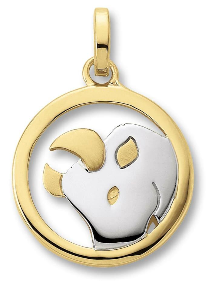 One Element Damen Schmuck Sternzeichen Anhänger Stier aus 333 Gelbgold, gold