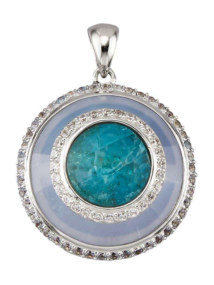 Cliphanger van echt zilver, Blauw