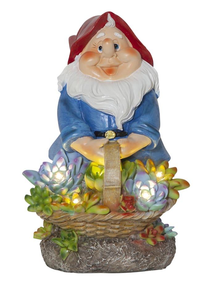 Star Trading Figurine LED Nain de jardin, Multicolore