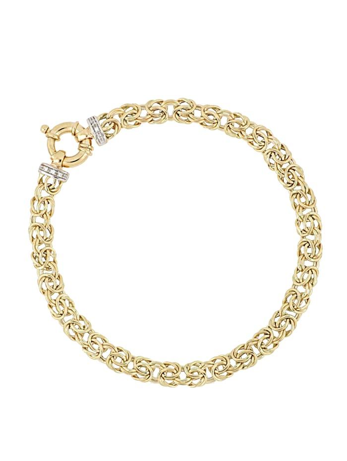 Bracelet maille royale avec diamants