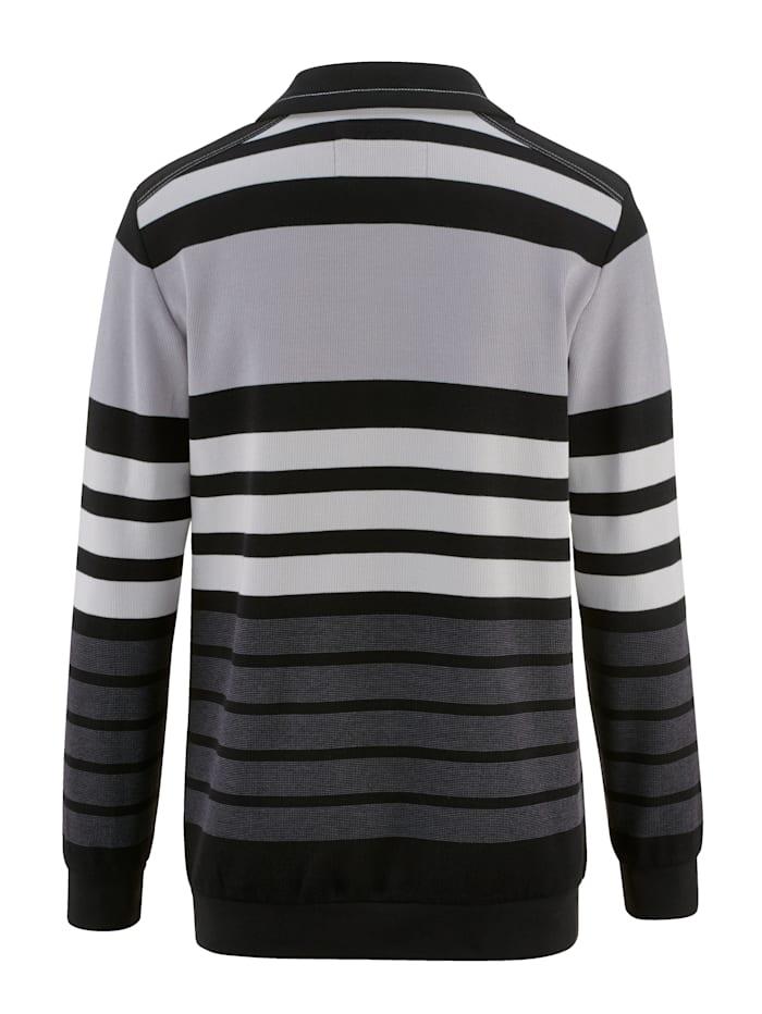 Sweatshirt met ingebreid streepdessin