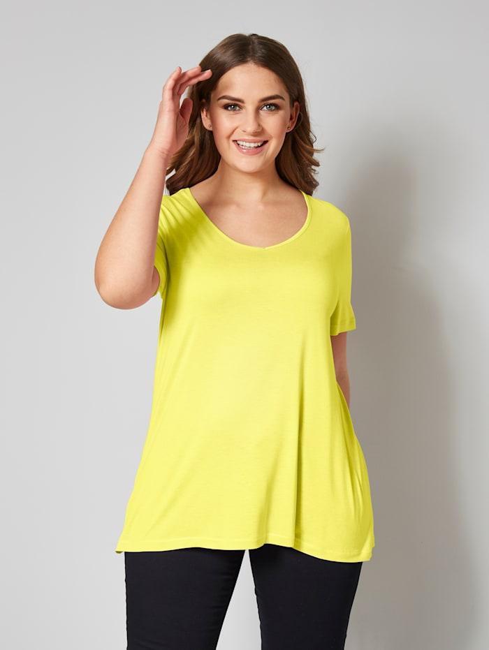 Janet & Joyce Shirt aus reiner Viskose, Limettengrün