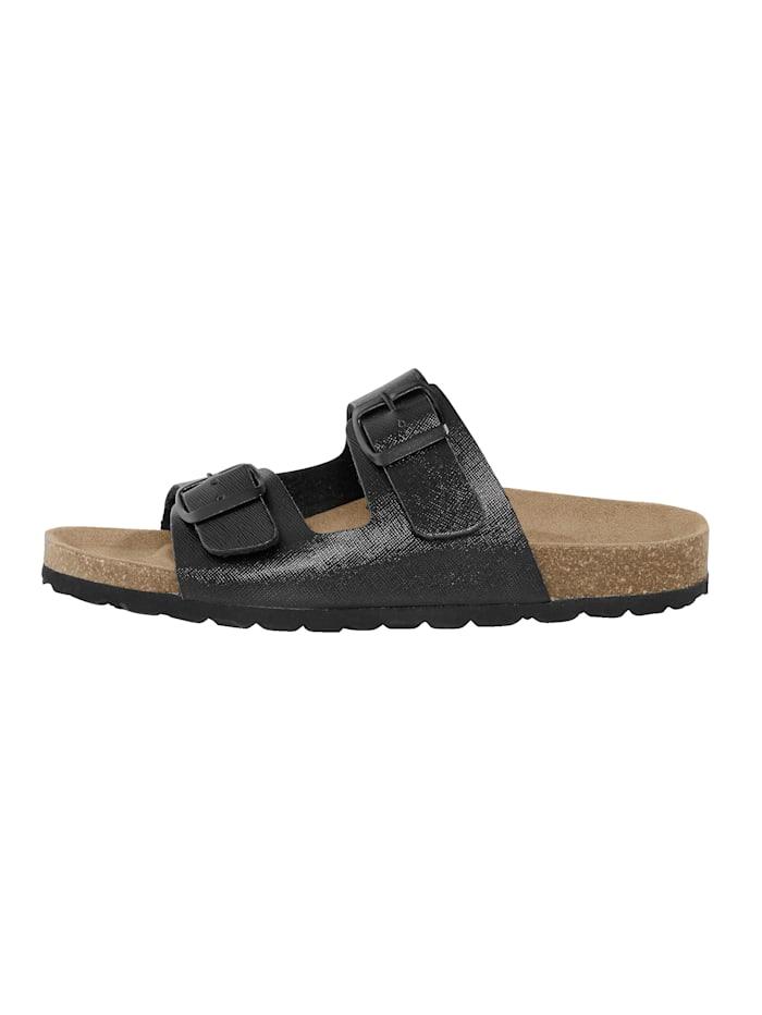 Nazouvací obuv lesklým efekt