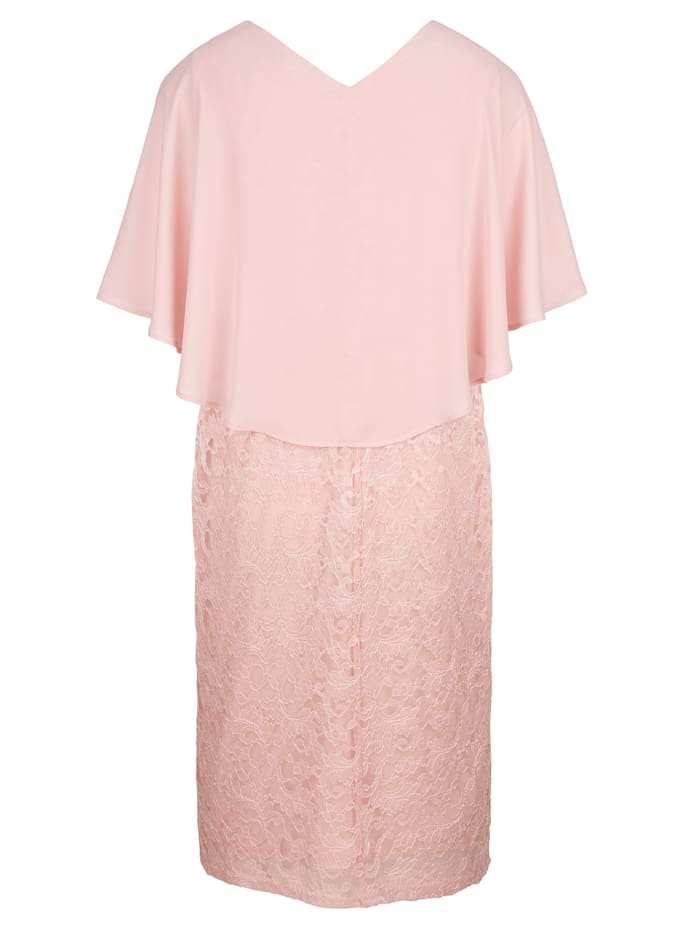Čipkové šaty so šifónom