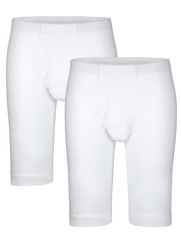 HERMKO Lahkeelliset alushousut, Valkoinen