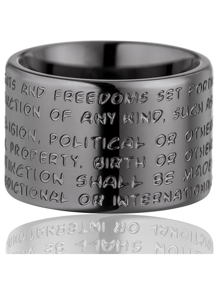 Gilardy Ring Edelstahl Glänzend Edelstahl, grau