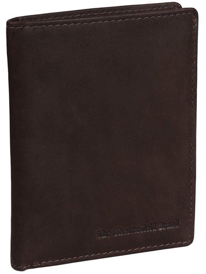The Chesterfield Brand Wax Pull Up Andy Geldbörse RFID Leder 9 cm, braun