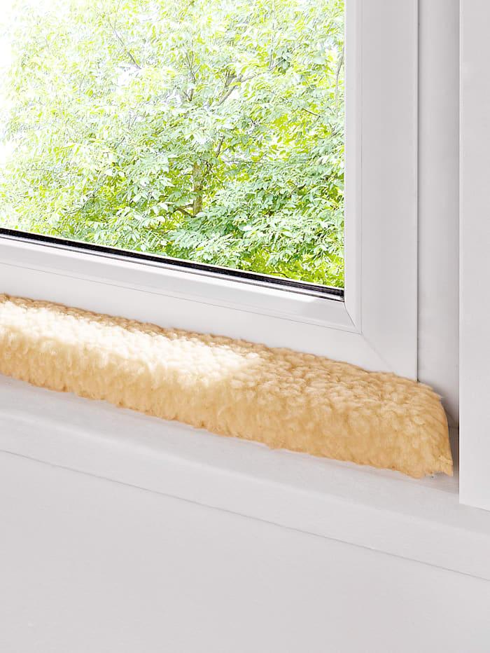 K & N Schurwolle Schurwoll-Fenster-Zugluftstopper, natur