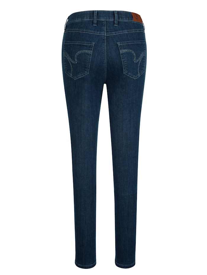 Jeans van coloured denim