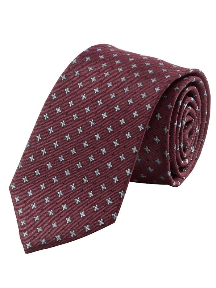 Men Plus Krawatte, bordeaux/schwarz/silber