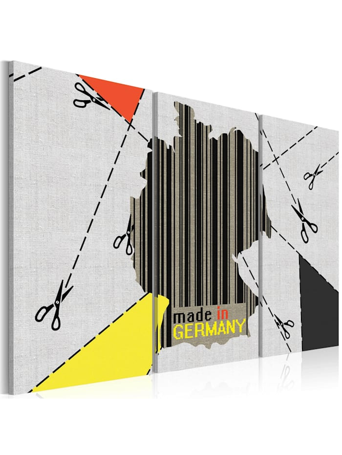 artgeist Wandbild Made in Germany, black,grey,red,yellow