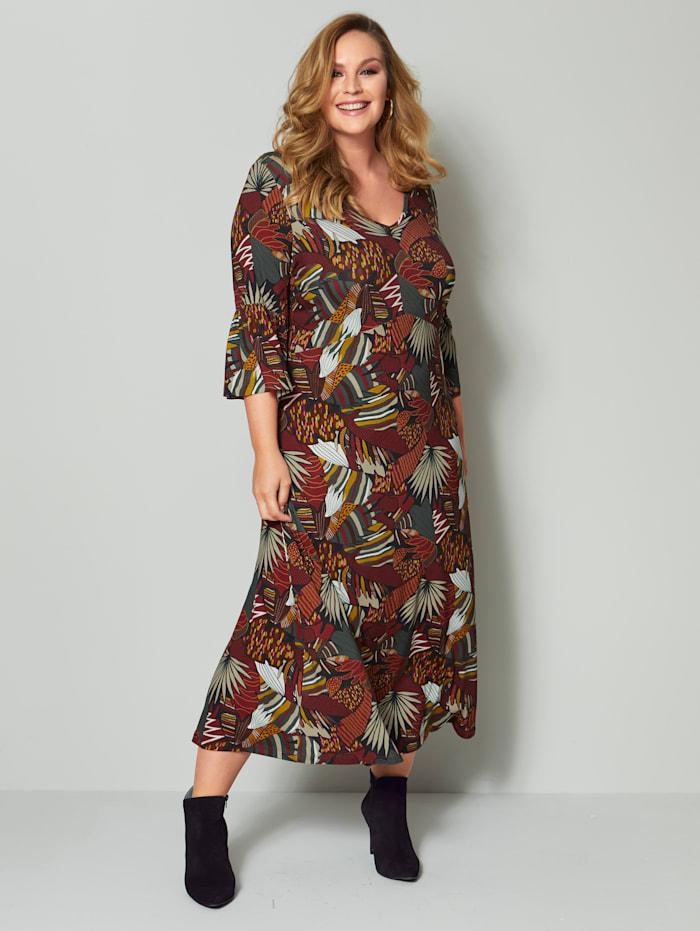 Jerseykleid mit Blumendruck