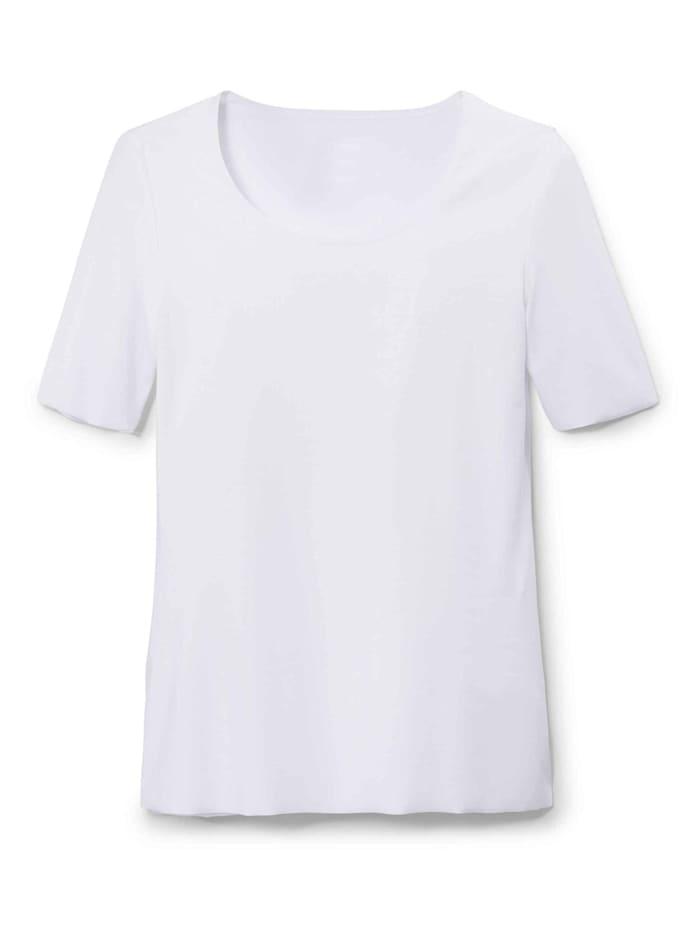 Calida Kurzarm-Shirt, V-Neck STANDARD 100 by OEKO-TEX zertifiziert, White