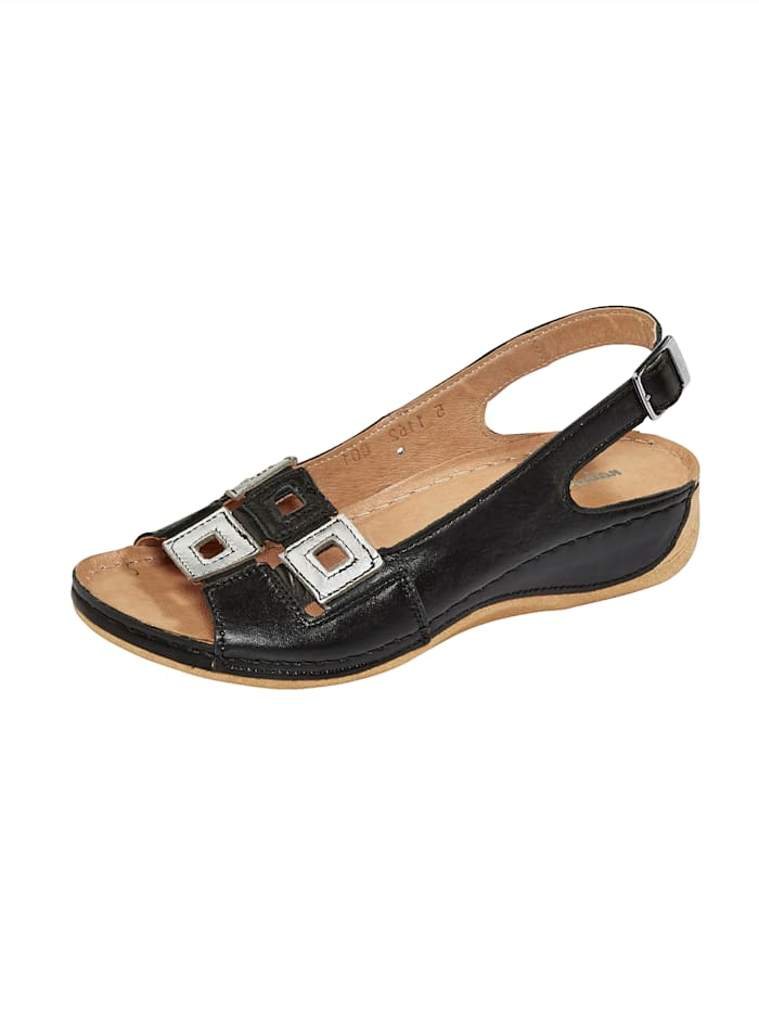 Naturläufer Sandale, Schwarz