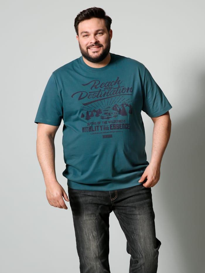 Men Plus T-Shirt Spezialschnitt, Rauchblau