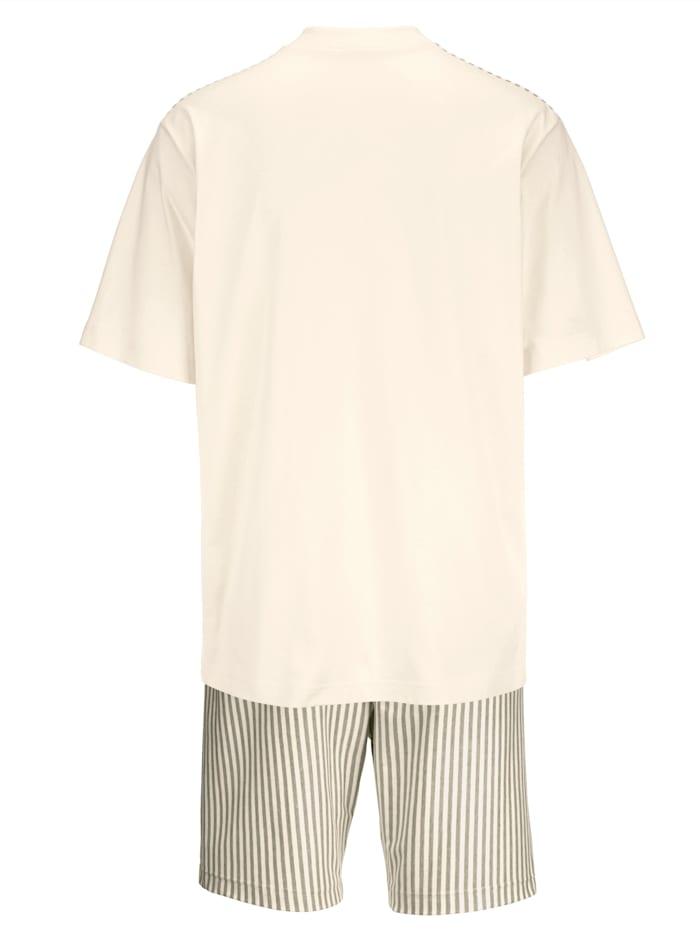 Pyjashort en coton naturellement teinté