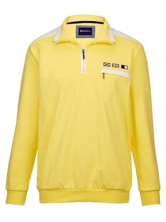 BABISTA Sweatshirt in sommerlichen Farben, Gelb