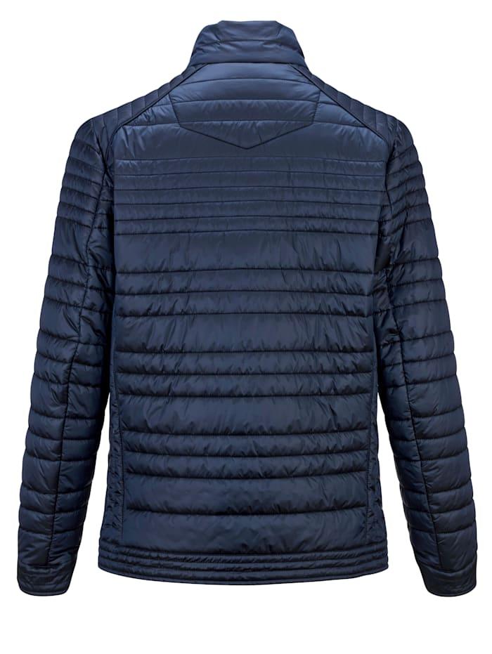 Gewatteerde jas met subtiele glans