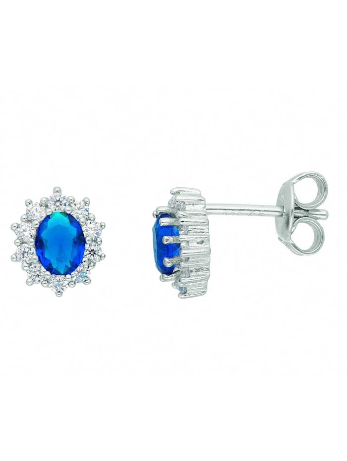 1001 Diamonds 1001 Diamonds Damen Silberschmuck 925 Silber Ohrringe / Ohrstecker mit Zirkonia, blau