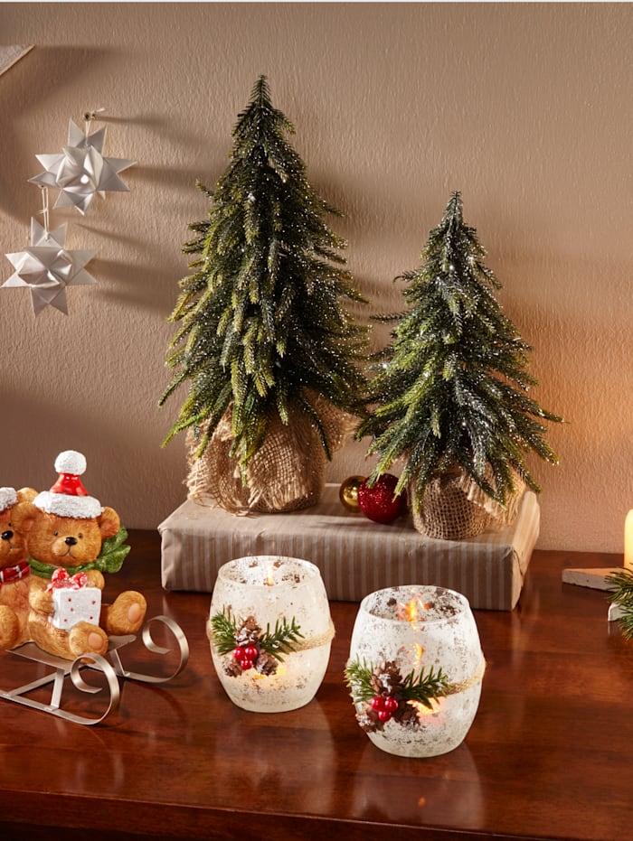 Set van 2 kerstbomen