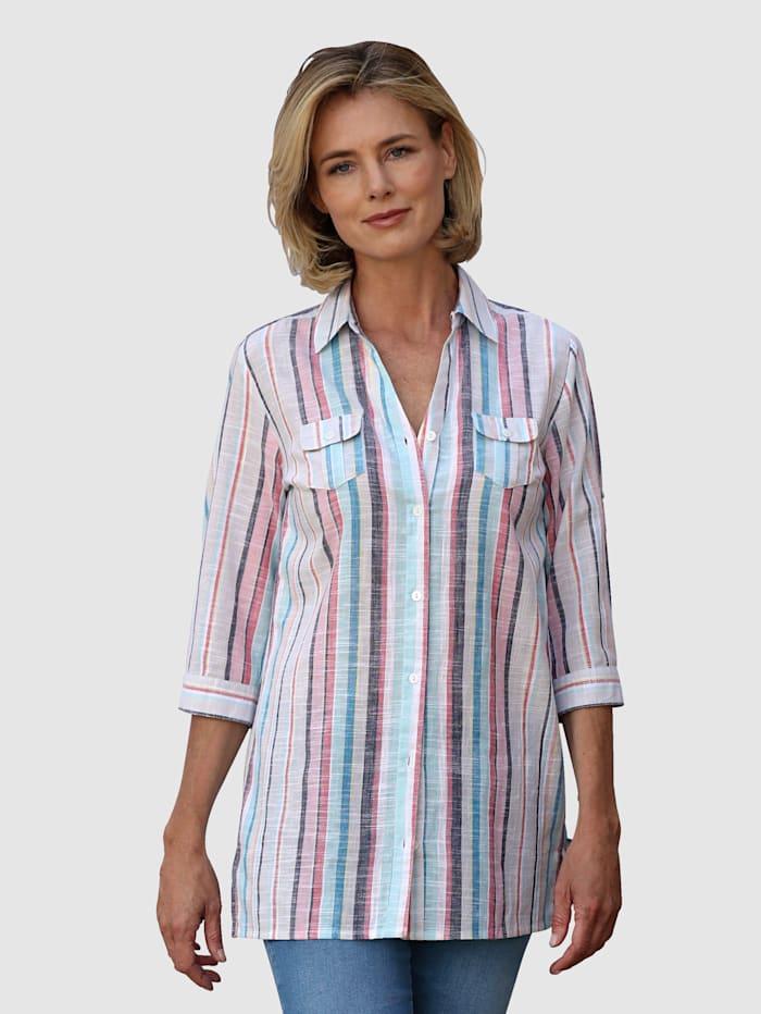 Dress In Bluse i lang modell, Hvit