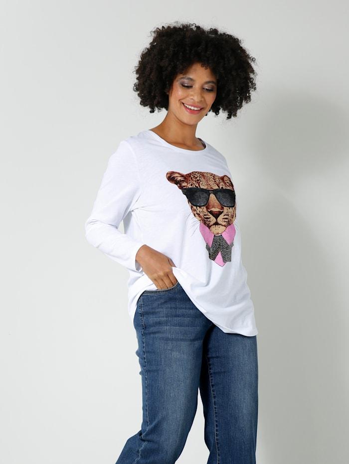 Angel of Style Shirt mit Frontprint, Weiß