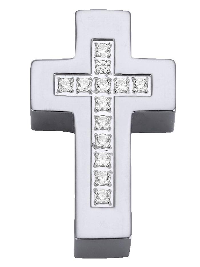Kreuz-Anhänger mit Zirkonia
