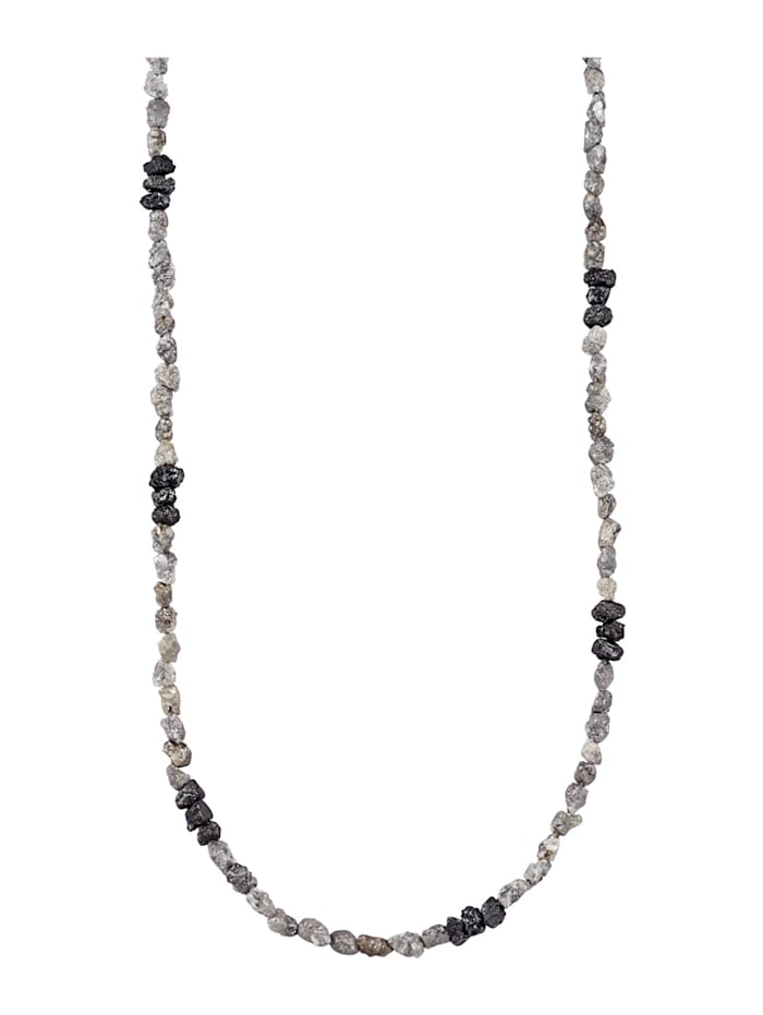 Diemer Atelier Rohdiamant-Kette, Grau