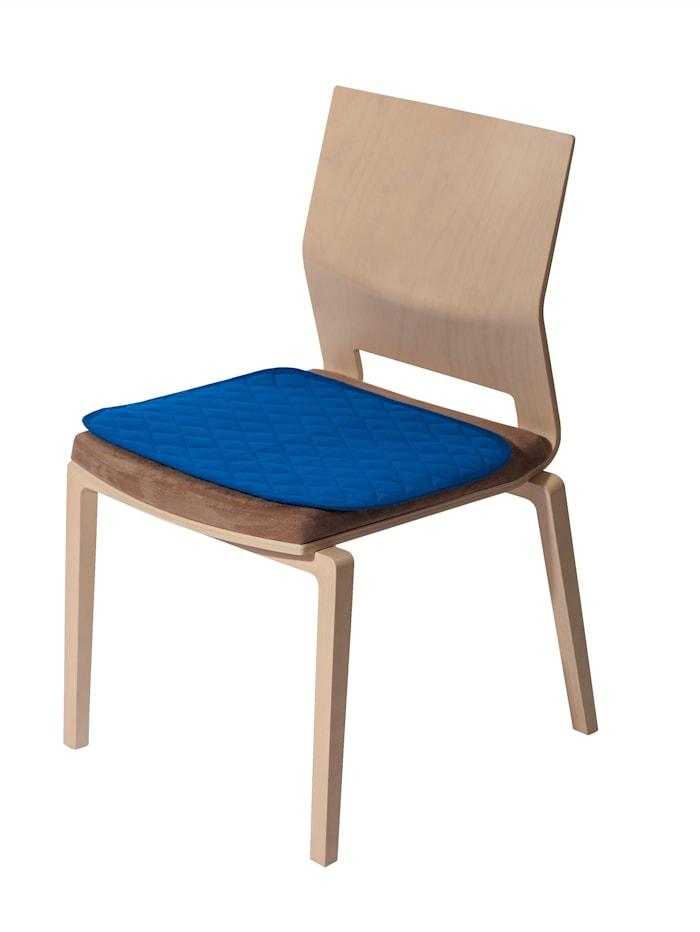 Suprima Sitzauflage mit Anti-Rutsch Noppen, Blau
