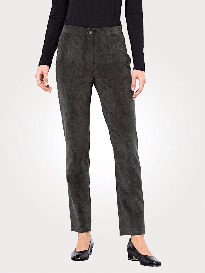 Trousers made from velvet cord