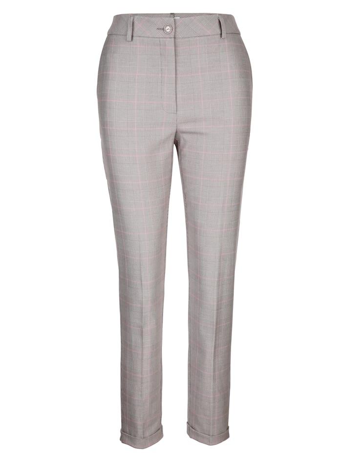 Pantalon 7/8 à motif Prince de Galles