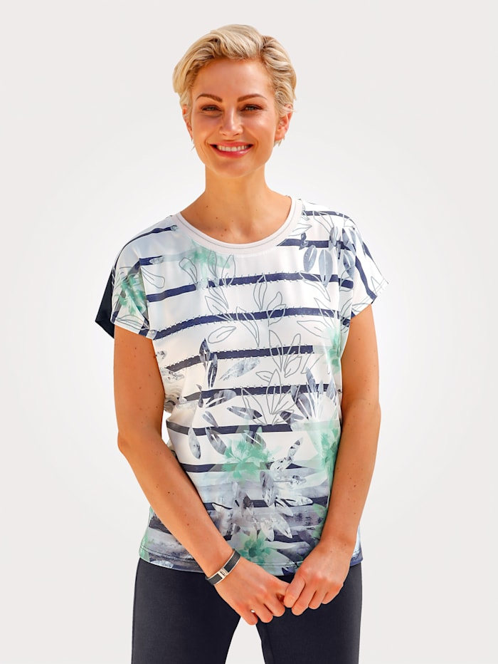 Top with a mixed print
