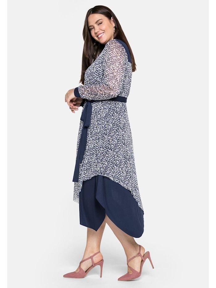 Sheego Kleid im Lagenlook, mit Zipfelsaum