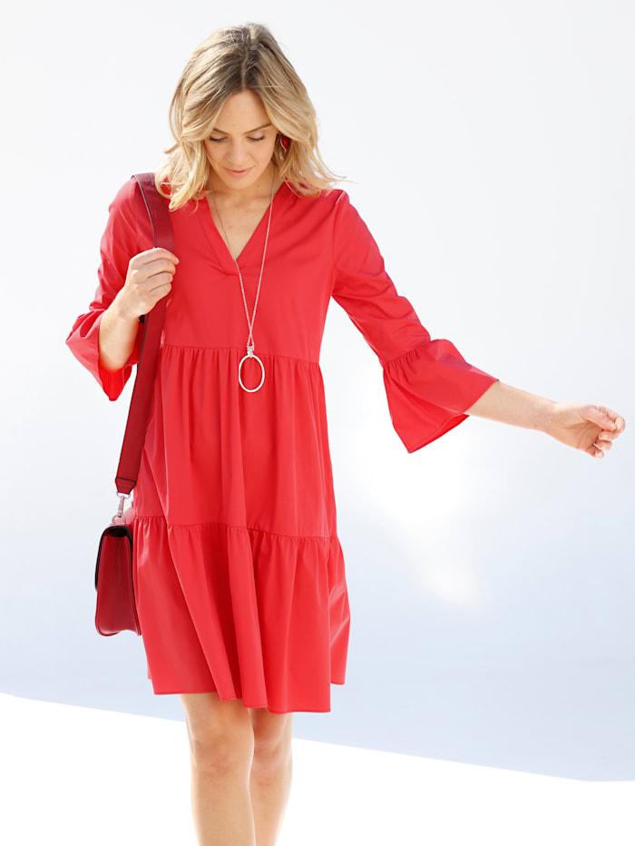 AMY VERMONT Kleid mit Volants, Rot
