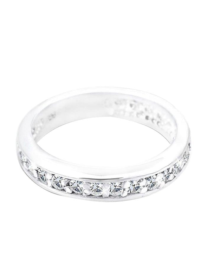 Ring Bandring Kristalle 925 Sterling Silber