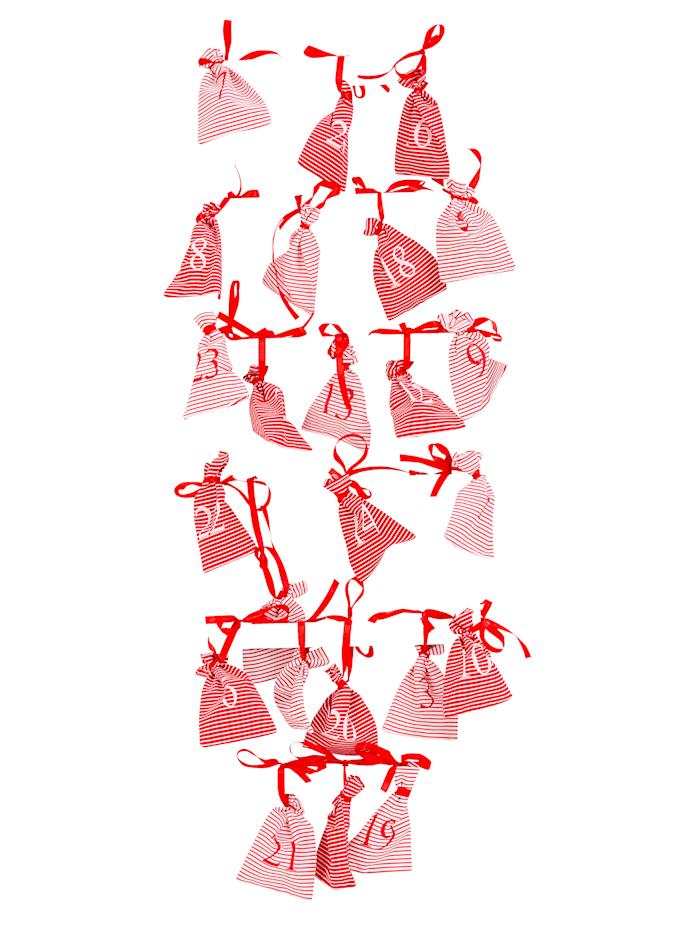 IMPRESSIONEN living Adventskalender, Weiß/Rot