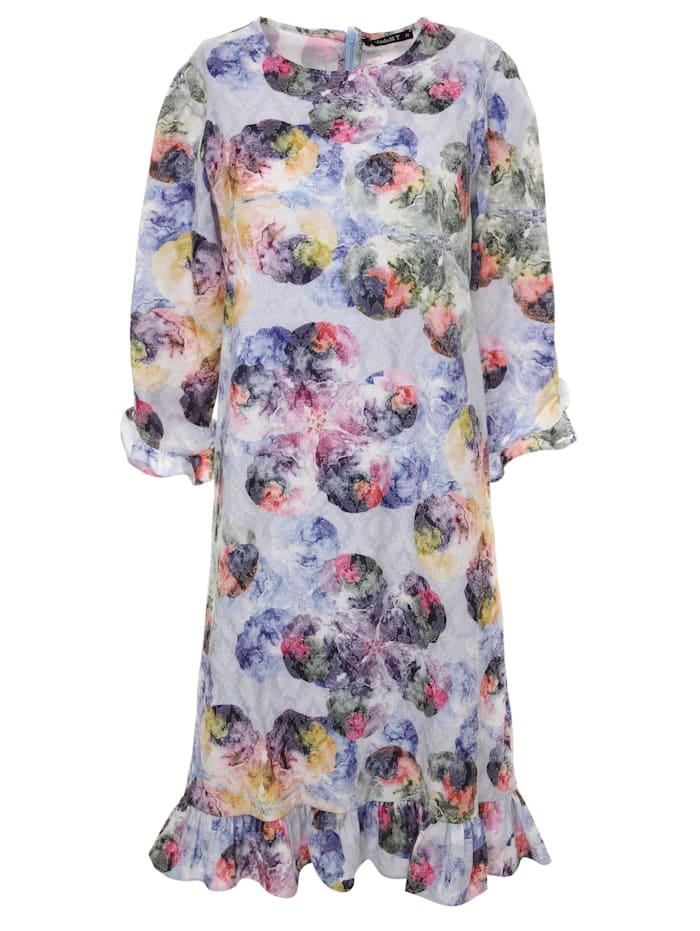 Madam-T Sommerkleid Kleid Grekka, hellblau, lila