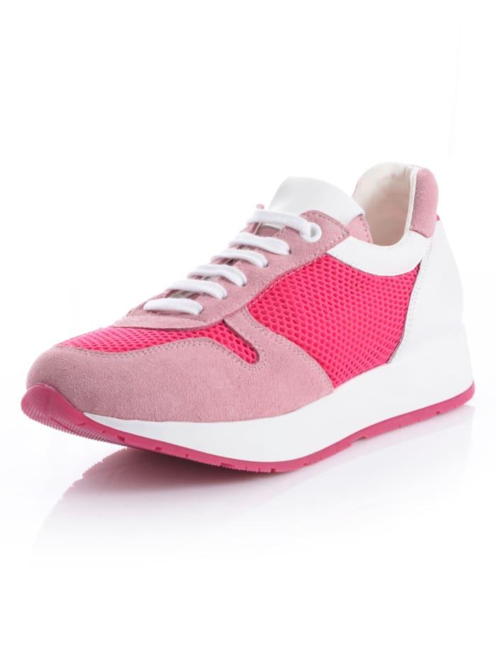 Alba Moda Sneaker in femininer Farbstellung, Pink/Weiß/Rosé