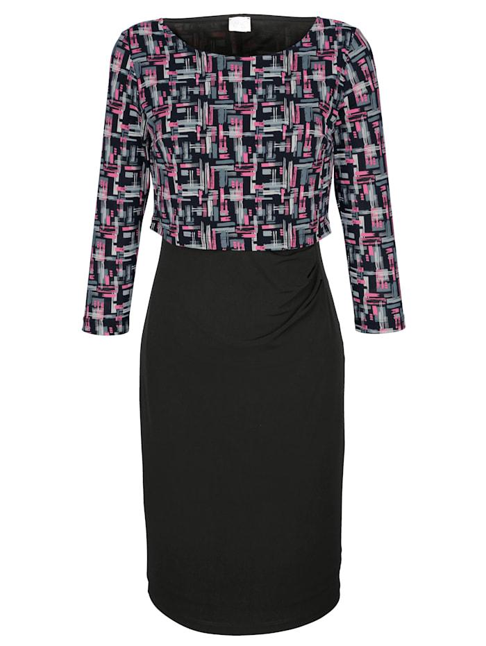 Kleid mit exklusivem Alba Moda Druck