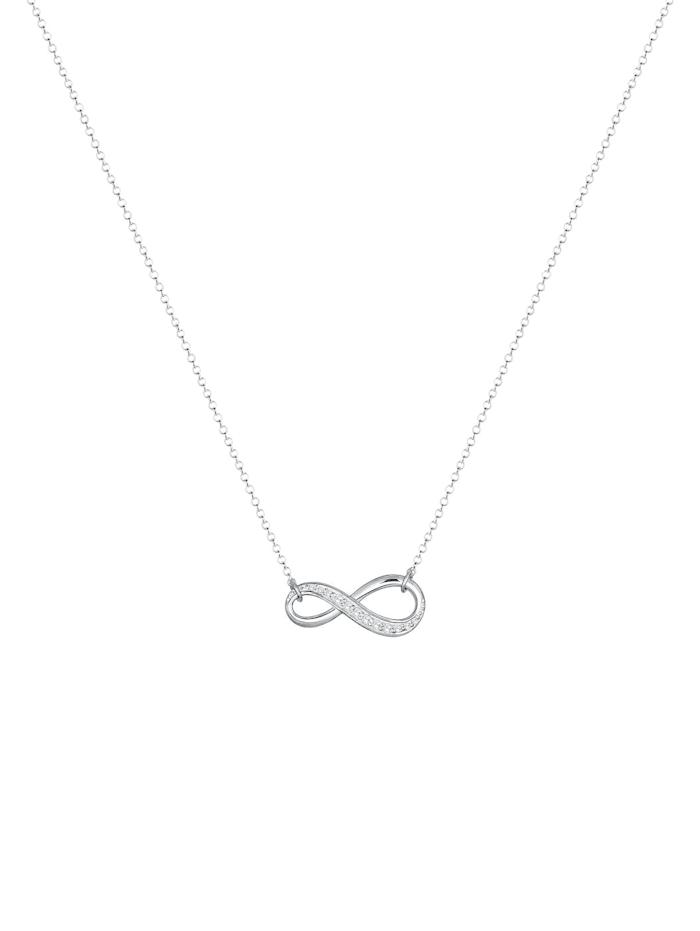 Halskette Infinity Zirkonia 925 Sterling Silber