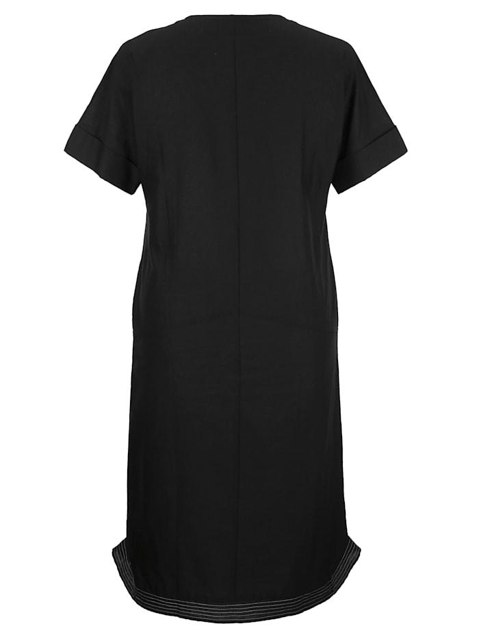 Šaty z mixu bavlny-lnu