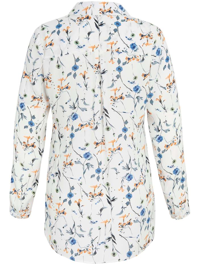 Long-Bluse mit Hemdkragen