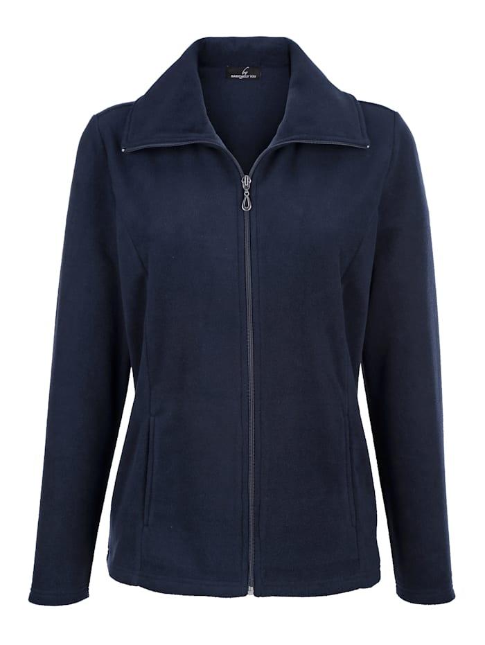 Fleece vest in sportieve look