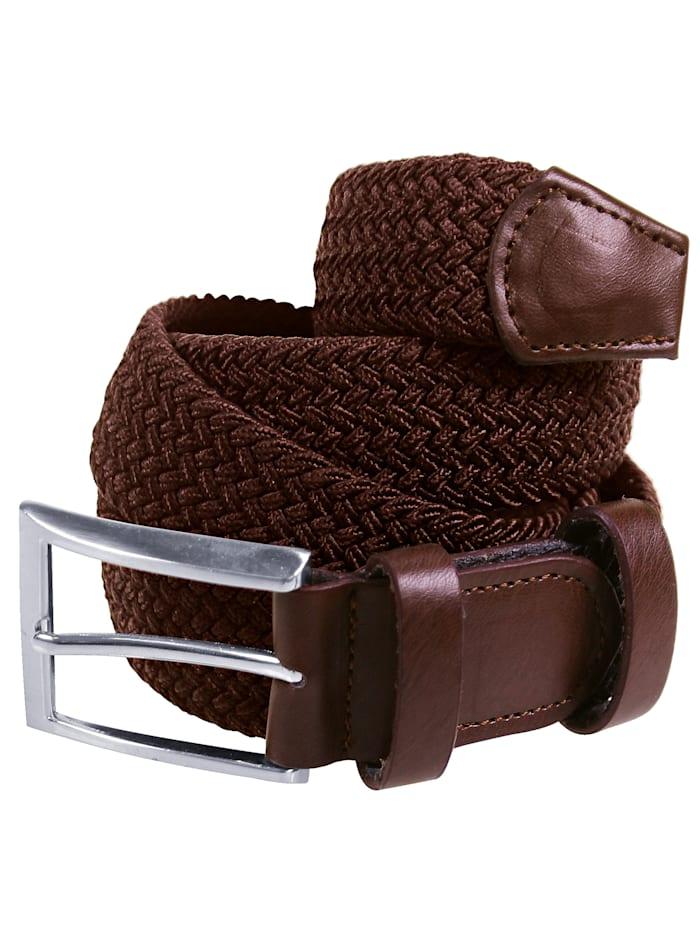 GD Import Elastischer Gürtel Mit eckiger Schließe, braun