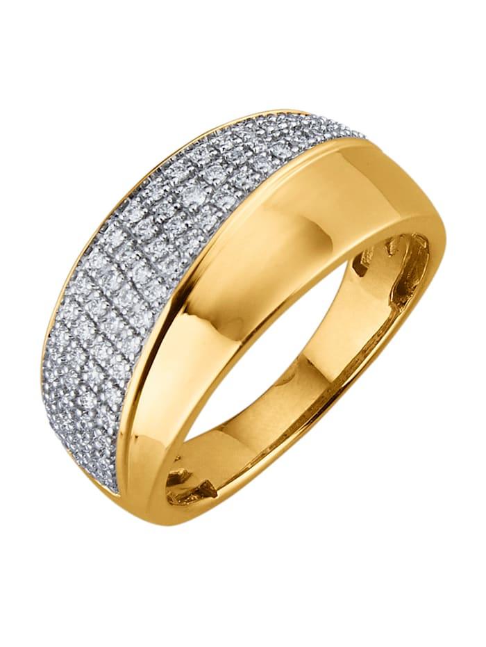 Diemer Diamant Ring med briljanter, Guldfärgad