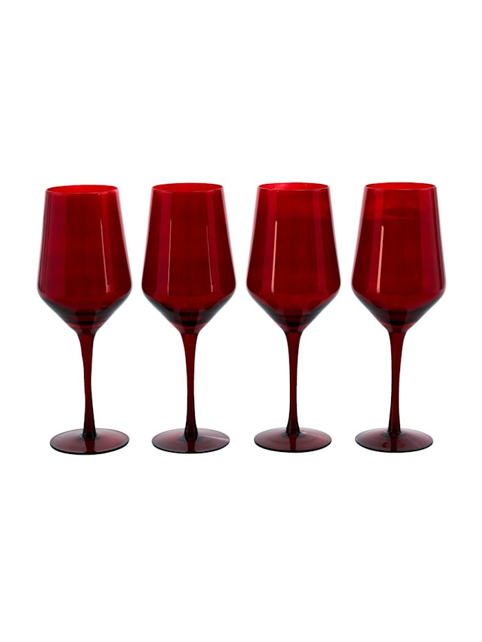 IMPRESSIONEN living Lot de 4 verres, Rouge